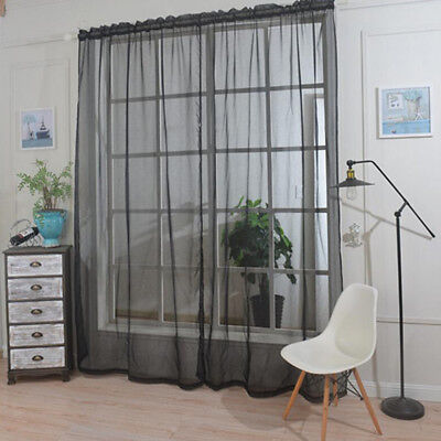 1 Panel Rod Pocket Window Voile Sheer Curtain Valance for Sliding Glass Door