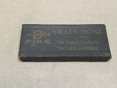 Vintage Swaty Hone With Box Pike Manufacturing New Hampshire