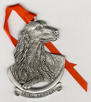 Irish Setter Pewter Christmas Ornament