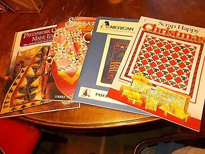 lot 4 quilting books patchwork jean wells scrap quilts Christmas