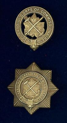 Canadian Corps of Commissionaires-1925-first issue cap & breast badge (set of 2)