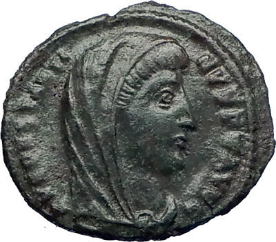 CONSTANTINE I the GREAT 347AD Ancient Roman Coin Christian Deification  i73197