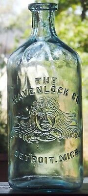 DETROIT, MICH early richly embossed hair THE WAVENLOCK CO with stylized woman