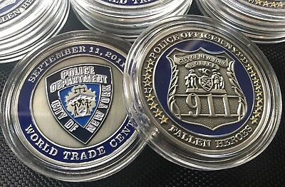 PDNY 911 Commemorative Coin 2mm Challenge Coin Police Department New York