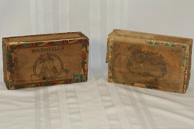 Boxes/chests Vintage Wooden Box castaways Cigars Reproduction Boxes/chests
