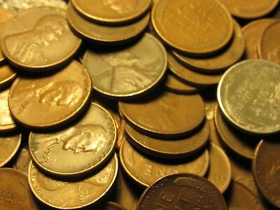 Unsearched Wheat Penny Rolls (1909-1958) $5.40 a roll when you buy 4!