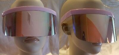 New Oversized Pink Pastel Mirrored Lens Shield Visor Statement Sunglasses