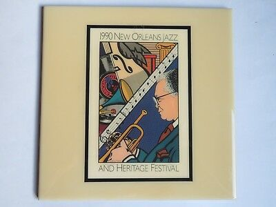 Festival TILE ~ New Orleans Jazz & Heritage Fest ~ RARE Art4Now ~ 1990 Kid Shiek
