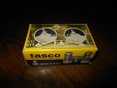 TASCO OPERA GLASSES MOTHER OF PEARL IN BOX w/ POUCH