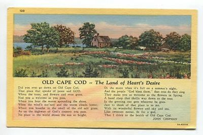 OLD CAPE COD - THE LAND OF HEARTS DESIRE - unused