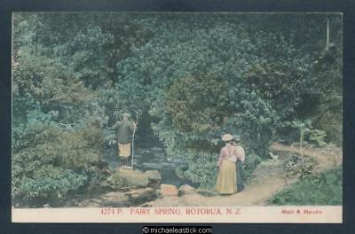 New Zealand Fairy Spring, Rotorua No.4274 Muir & Moodie Postcard