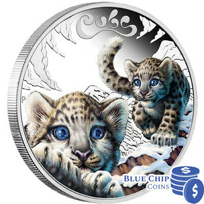 2016 50c The Cubs Snow Leopard 1/2oz Silver Proof Coin