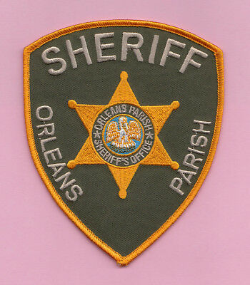 A16 * Old Htf Orleans Parish Sheriff Louisiana Police State Patch Big Easy *