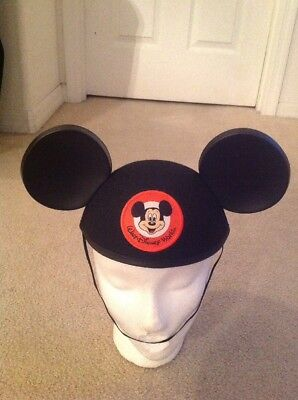 Authentic Walt Disney World Black Mickey Mouse Ears Hat Patch Adult Size