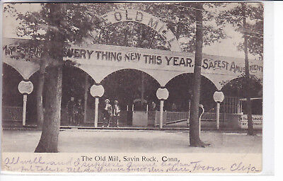 Savin Rock Connecticut CT Postcard 1906 The Old Mill