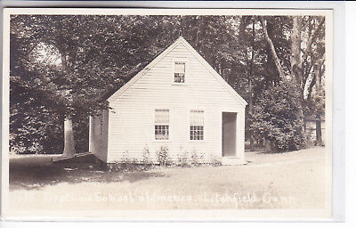 Litchfield Connecticut CT RPPC Real Photo 1924-1949 First Law School of America