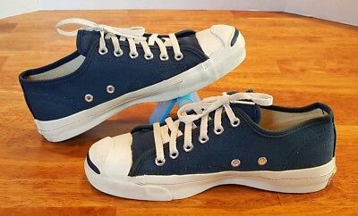 1e054eec1f1f VINTAGE CONVERSE JACK PURCELL Canvas Low Sneakers Navy Blue