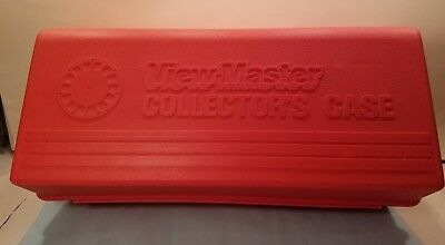 View Master Collectors Case (Red) with intact handle! Cleaned and Undamaged!