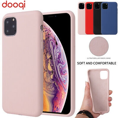 For iPhone XS Max XR Liquid Silicone Rubber Case With Microfiber Cloth Cushion