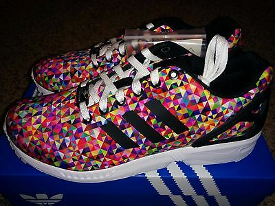 9686d80f9 Adidas ZX Flux Multi Color Prism Rainbow Boost Multicolor M19845 Print Xeno  NEW