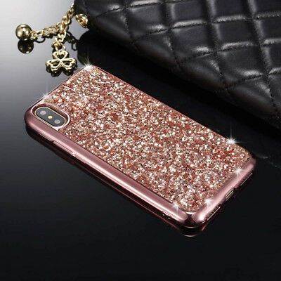 Bling Glitter Crystal Diamond Rubber Shockproof Cover Case for iPhone XS Max XR