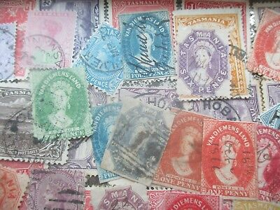 ESTATE: Tasmania in tin unchecked unsorted as received  (6237)