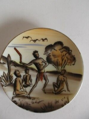 Vintage Aboriginal Art Small Display Plate