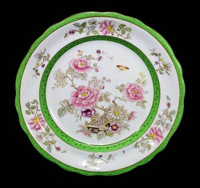 Antique 19th century Mason's Ironstone peony famille rose large plate