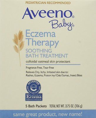 Aveeno Baby Eczema Therapy Soothing Baby Bath Treatment, Fragrance Free,...
