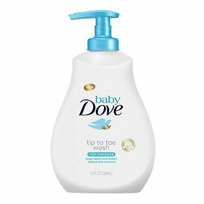 Baby Dove Tip To Toe Wash Rich Moisture - 13 oz, Pack of 5
