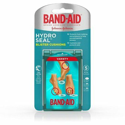 Band-Aid Hydro Seal Blister Cushions Variety Pack, 5 Count Each (Pack of 11)