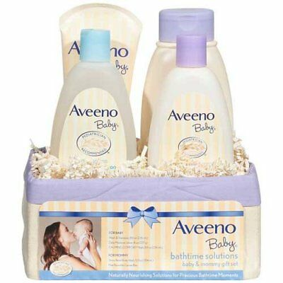 Aveeno Baby Bathtime Solutions Baby and Mommy Gift Set 4 ct Basket - 2 per case.