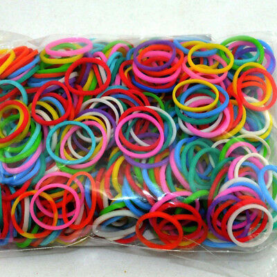 600PCS Weave Multi Coloured Loom Bands 600 + Clips+Tool in Sealed Pack Set New
