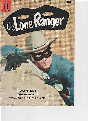 "Lone Ranger #119 VF/NM Dell 1958 Clayton Moore photo cover ""The Missing Markers"""