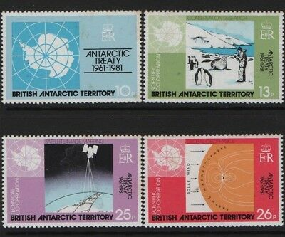 BRITISH ANTARCTIC TERRITORY SG 99-102 20th Anniv of Antarctic Treaty 1981  MNH