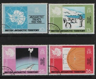 BRITISH ANTARCTIC  SG 99-102 20th Anniv of Antarctic Treaty 1981 Very Fine Used