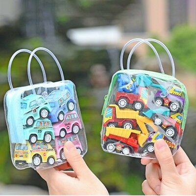 6Pcs/Sets Baby Kid Car Toys Classic Truck Vehicle Mini Small Pull Back Car Gifts