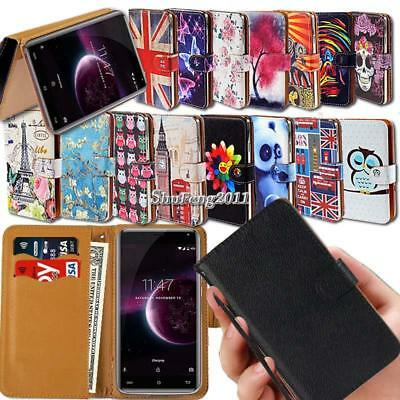 Leather Wallet Card Stand Flip Case Cover For Various Cubot Mobile Phones