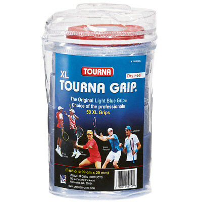 TOURNA - Tourna Grip XL Tennis Overgrip 50 Pack Blue - (TOUR-50XL)