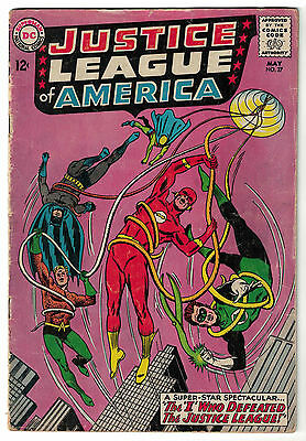 DC Comics JUSTICE LEAGUE OF AMERICA The World's Greatest Superheroes No 27 VG-