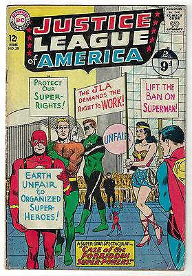 DC Comics JUSTICE LEAGUE OF AMERICA The World's Greatest Superheroes No 28 GD/VG