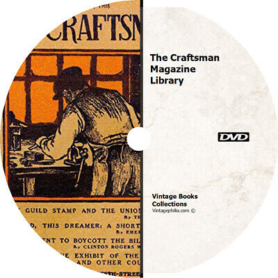 * THE CRAFTSMAN MAGAZINE COLLECTION * 183 ISSUES on DVD * GUSTAV STICKLEY BOOKS