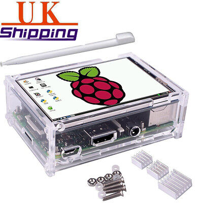 "3.5""inch LCD Touch Pen Display Screen Case Heatsink Kit For Raspberry Pi 2 3"
