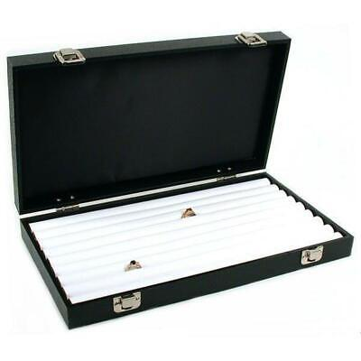 White Faux Leather Ring Display Tray Travel Case