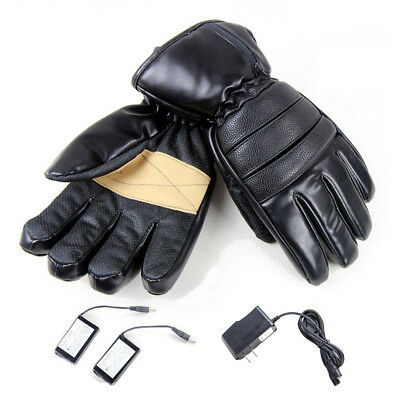 Electric Motorcycle Outdoor Heated Gloves Warmer Hands+2 Rechargeable Battery UK
