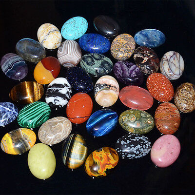 1 PCS Natural Gemstone Mixed Oval Cab Cabochon Stones Beads Jewelry 20x30mm