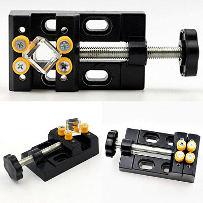 Small Tabletop Vise Mini Fixed Machine Attachment Vice Hobby Jewelry Equipment