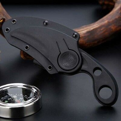 CSGO Karambit Knife With Sheath Fixed Blade Sharp Outdoor Hunting Fishing Saber