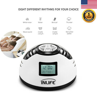LCD WHITE NOISE Machine 8 Relax Sound Baby Nature Peace