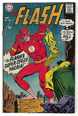 DC Comics THE FLASH Issue 182 The Flash's Super-Speed Phobia! FN-